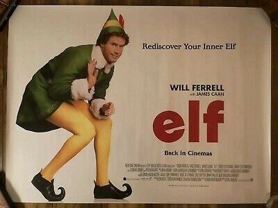 Elf 2019 Re-release Original UK Quad Cinema Film Movie Poster 2003 Will Ferrell