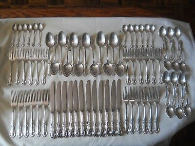International Sterling Silver Joan Of Arc Flatware 72 pc For 12 FREE SHIPPING
