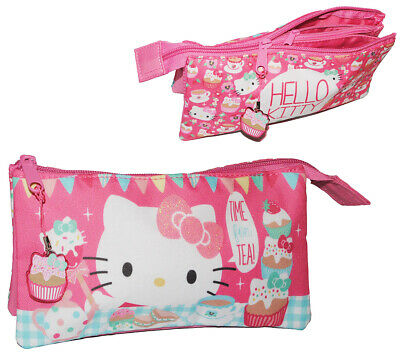 2 IN 1: Trousse / de Maquillage - 3 Compartiments - Hello Kitty -
