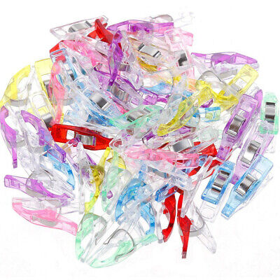 65 PCS Colorful Sewing Craft Quilt Binding Plastic Clips Clamps Pack Wholesale