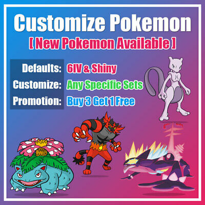 Buy 6IV Shiny Pokemon Sword & Shield, Gmax, New Bulbasaur in Stock, Pokemon Home