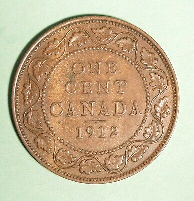 1912 - Canada Large Cent - Nice Condition - INV#F-16
