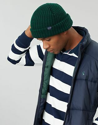 Joules Mens Bamburgh Knitted Hat in RACING GREEN in One Size