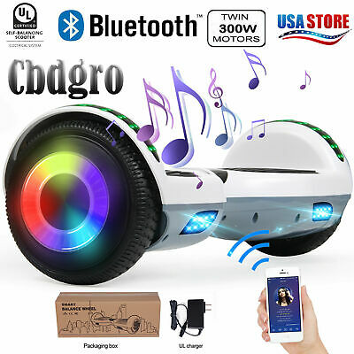 "6.5"" Bluetooth Hoverboard LED Self Balancing Electric Scooter UL2272 CE No Bag"