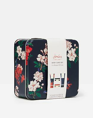 Joules Body Care Set Tin With Mini Toiletries in NAVY FLORAL in One Size