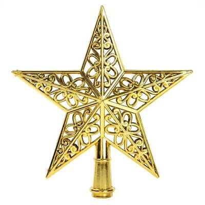 Plastic Christmas Tree Top Stars Hang Xmas Decoration Ornament Treetop Topper G