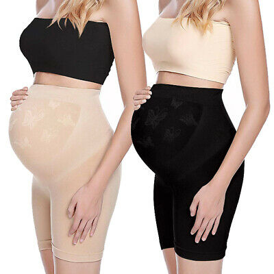 Women's Maternity Shapewear Mid Thigh Pettipant Belly Support Pregnancy Panties