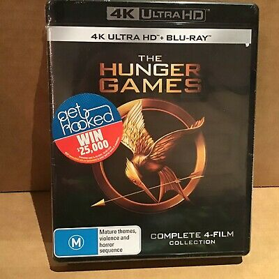 The Hunger Games Complete 4 Film Collection 4K Ultra Hd + Blu-Ray - Sealed