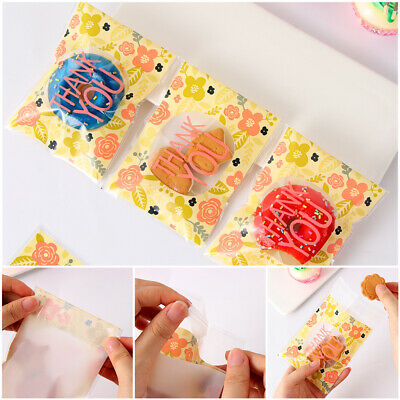 you Flower Self-Adhesive Packaging Pouch Cookie Bags Candy Pockets Plastic Bag