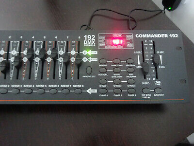 Transcension 192 DMX Channels Commander fully woking with PSU