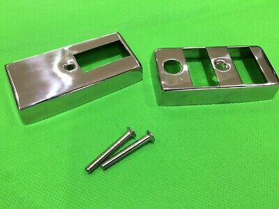 2 cut outs Indicator switch cover in stainless steel for Vespa PX early type