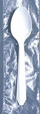 Skilcraft Medium Weight Disposable Spoon, Wrapped Plastic, White, 1000 PK