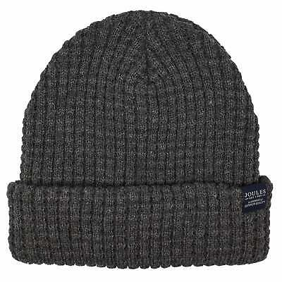 Joules Bamburgh Cable Knit Headwear Hat - Grey One Size