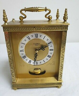 Ea Combs London Brass Carriage Clock - Working Order