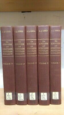 The English and Scottish Popular Ballads by F. J. Child: Collection of 5 Books