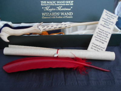 Voldermort Wooden Magic Wand wizard/witch black feather spells Harry Potter