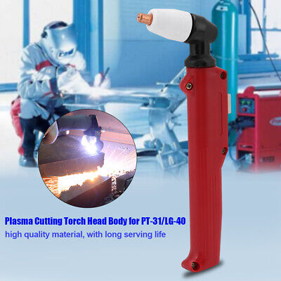 1Pcs PT-31 LG-40 Plasma Cutting Cutter Torch Head Body Red 19x6.5cm Welding Tool