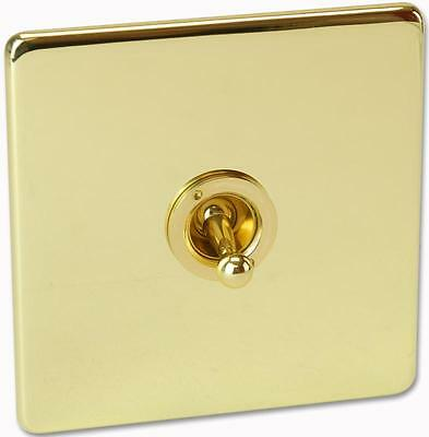 TOGGLE SWITCH 1 GANG POLISHED BRASS Electrical Switches & Socket Outlets