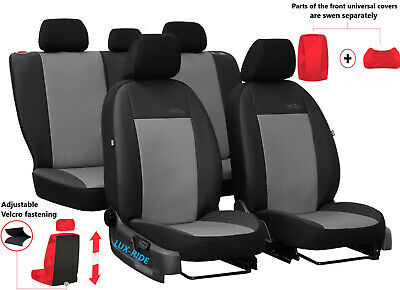 Alicante+Eco-Leather Tailored Seat Covers For NISSAN NAVARA 4 NP 300 DOUBLE CAB