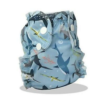 AppleCheeks Washable Swim Diaper 7-20 lbs The Shark Side Size 1 Free S/H