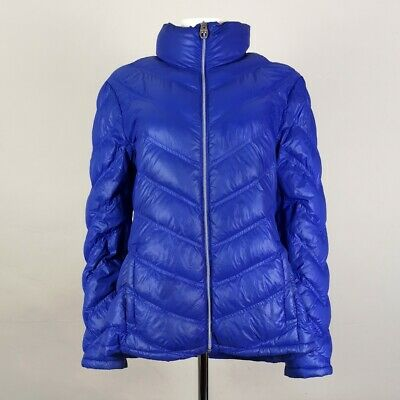 Women's Calvin Klein Puffer Jacket with down filling in purple Size large UK 12