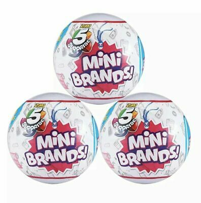 Mini Brands Toy Collection 5 Surprise Mystery Blind Capsule Zuru ( Set of 3 )