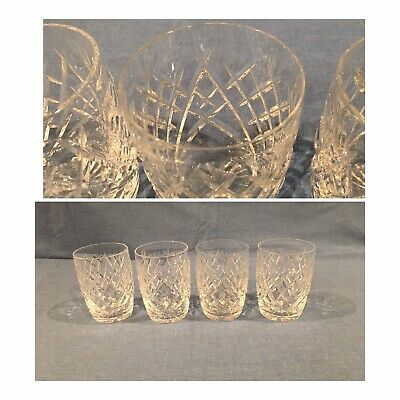 Vintage Waterford Crystal DONEGAL 10 Oz Tumbler Set Of 4