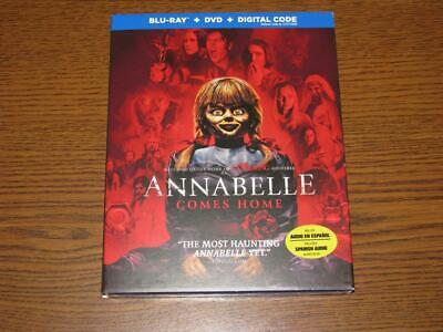 Annabelle Comes Home (Blu-ray/DVD, 2-Disc Set, 2019, Digital Copy) Slip Cover