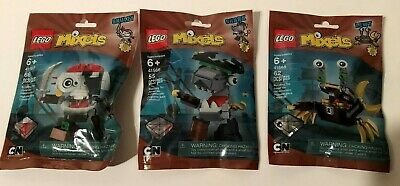 Lego MIXELS Series 8 PYRRATZ tribe SHARX SKULZY LEWT brown pirates complete set