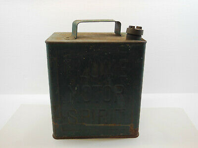 Tin Plume Motor Spirit Petrol Can With Lid Vintage Antique