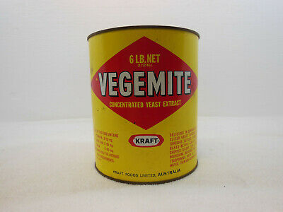 Tin Vegemite Concentrated Yeast Extract 6 LB Kraft Foods Limited Australia Vint
