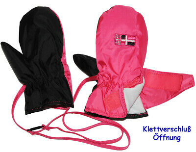 """Thermal Mittens/Mittens - """" Pink Rose """" - Size: 6 Months to 3 Year"""