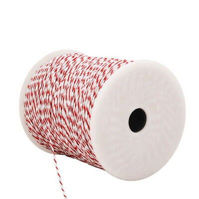 500m Roll Electric Fence Energiser Stainless Steel Poly Wire Insulator @TOP