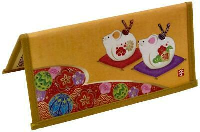 """Japanese Rice Paper Wallet Checkbook Cover Year of the Rat 3½""""x8''"""