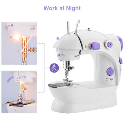Portable Mini Sewing Machine Crafting Mending Machine with Light