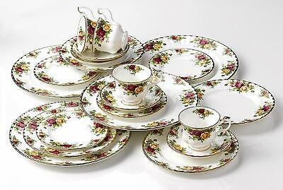 """Royal Albert """"Old Country Roses"""" 5 Piece Place Setting Bone China 22K Gold New"""