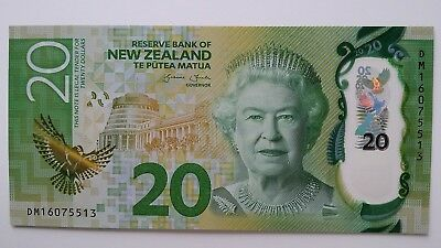 NEW ZEALAND $20 Dollars 2016 P193 UNC Banknote