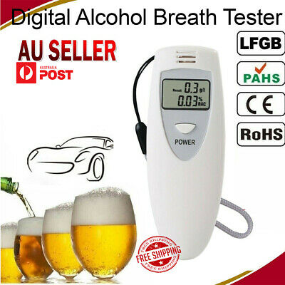 Police Digital Alcohol Breath Tester Analyzer Breathalyzer Breathalyzer LCD AUSS