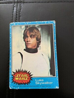 star wars trading cards 1977 Series 1  Complete Set Blue Cards
