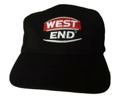 West End Hat Mens Cap Black Beer Brewery SA Adjustable One Size Fits All