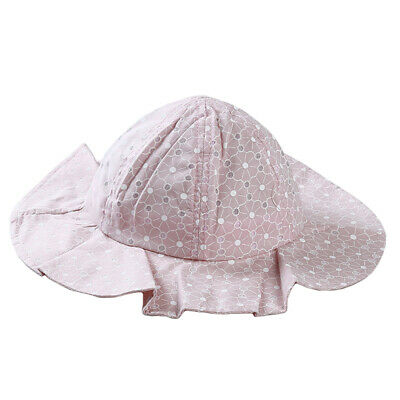 Toddler Baby Wide Brim Sun Hat Cotton Kid Bucket Cap Summer Beach Protector 6N