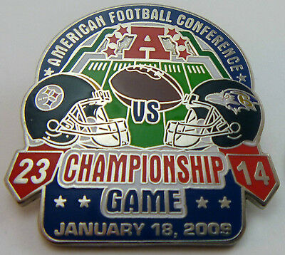Pittsburgh Steelers vs Baltimore Ravens 2008 AFC Championship Game Pin