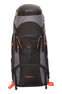 Mountain Warehouse Carrion 80L Rucksack - Soft Travel Backpack, Breathable &