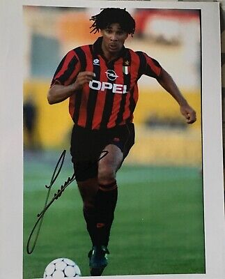 Ruud Gullit signed 10x8 photo AC Milan Image E UACC Registered dealer AFTAL