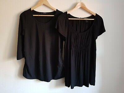 George maternity Size 14 and H&M Mama Size L t-shirt top bundle (2 items)