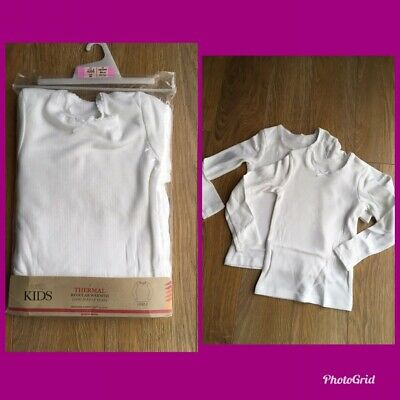 marks and spencer Girls Thermal Long Sleeve Vest 1,5-2 Years