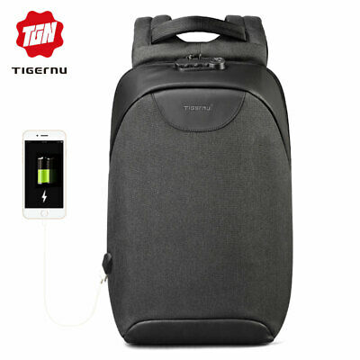 New Anti-theft Smart Lock Student Bag Suitable for Laptop  Backpack USB Charge