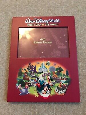 Walt Disney World Four Parks One World Mickey and Friends Photo Album and Frame