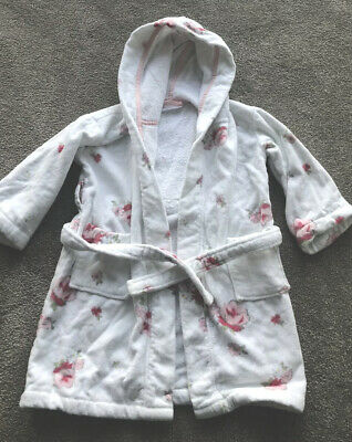 The Little White Company Toweling Dressing Gown 3-4 Years Used But V Gd Cond