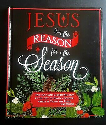 JESUS IS THE REASON FOR THE SEASON GIFT BOOK HC Christmas Celebration Quotes NEW